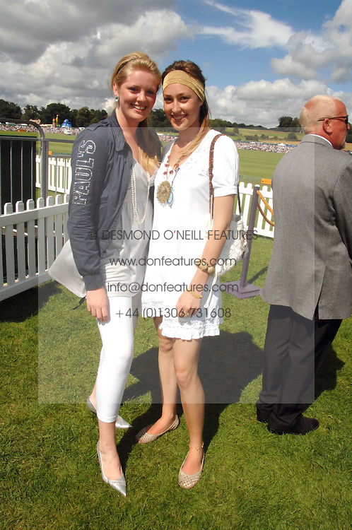 Left to right, HANNAH CLARKE and LADY TATIANA MOUNTBATTEN at the final of the Veuve Clicquot Gold Cup 2007 at Cowdray Park, West Sussex on 22nd July 2007.<br /><br />NON EXCLUSIVE - WORLD RIGHTS