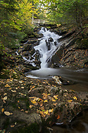 Dunlop Falls on Fortune Creek (Ruisseau Fortune) in the early autumn. Photographed near the Dunlop Picnic Area during Fall Rhapsody in Gatineau Park, Québec, Canada.