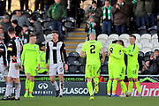 GOAL Hibernian midfielder Stevie Mallan (14)  scores to make it 1-3 during the Ladbrokes Scottish Premiership match between St Mirren and Hibernian at the Paisley 2021 Stadium, St Mirren, Scotland on 27 January 2019.