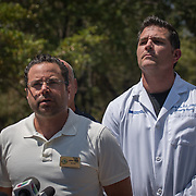 HOLLYWOOD, FL - [SEPTEMBER 13, 2017]: <br /> Mayor John Levy addresses the media outside of a rehabilitation center in the city where 6 patients died on September 12, 2017 in Hollywood, United States. (Photo by Angel Valentin/Getty Images)