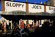 Image of Sloppy Joe's Restaurant in Key West, Florida, where Ernest Hemingway used to hang out, photos of Florida landmarks, pictures of Florida landmarks, images of Florida landmarks