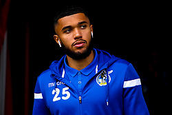 Tareiq Holmes-Dennis of Bristol Rovers arrives at Doncaster Rovers - Mandatory by-line: Robbie Stephenson/JMP - 19/10/2019 - FOOTBALL - The Keepmoat Stadium - Doncaster, England - Doncaster Rovers v Bristol Rovers - Sky Bet League One