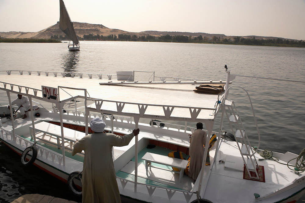 Tourboat on Nile, Aswan, Egypt