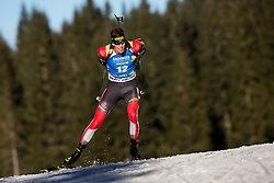 Julian Eberhard (AUT) in action during the Men 10km Sprint at day 6 of IBU Biathlon World Cup 2018/19 Pokljuka, on December 7, 2018 in Rudno polje, Pokljuka, Pokljuka, Slovenia. Photo by Vid Ponikvar / Sportida
