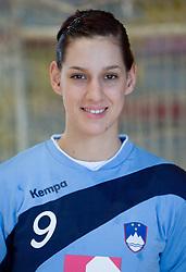 Portrait of Alja Koren  of Slovenian Handball Women National Team, on June 3, 2009, in Arena Kodeljevo, Ljubljana, Slovenia. (Photo by Vid Ponikvar / Sportida)