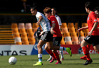 International Women's Friendly Matchs 2019 / <br /> Cup of Nations Tournament 2019 - <br /> Argentina vs South Korea 0-5 ( Leichhardt Oval Stadium - Sidney,Australia ) - <br /> Florencia Soledad Jaimes of Argentina (L) ,challenges with Moon Mira of South Korea (R)