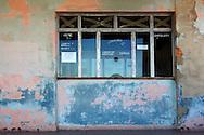 Weathered cinema in Santa Fe, Havana, Cuba.