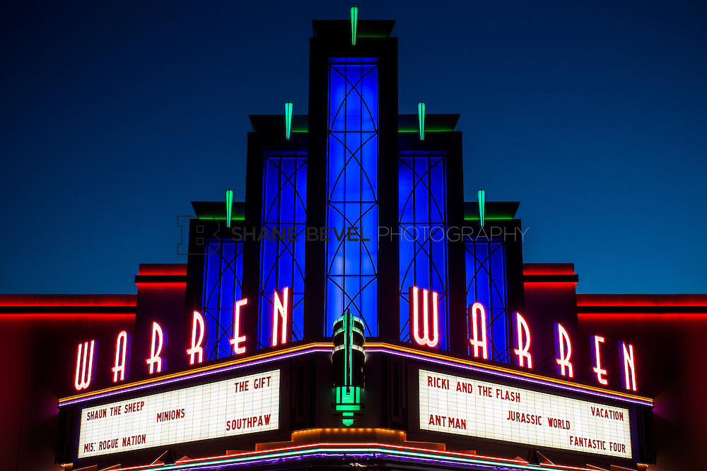 8/10/15 8:44:14 PM --  Exterior photos of the Warren Theatre in Broken Arrow, Oklahoma. <br /> <br /> Photo by Shane Bevel