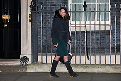 © Licensed to London News Pictures. 08/01/2018. London, UK. Caroline Noakes MP leaves 10 Downing Street after being appointed Minister of State for Immigration. Photo credit: Rob Pinney/LNP