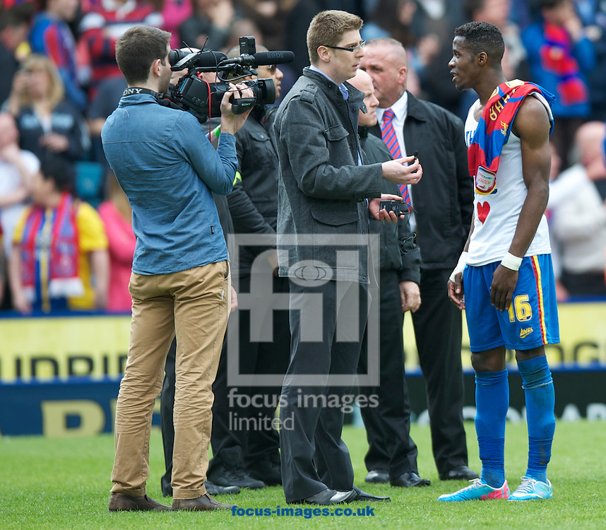 Picture by Alan Stanford/Focus Images Ltd +44 7915 056117.04/05/2013.Wilfried Zaha of Crystal Palace plays his last league game in the npower Championship match at Selhurst Park, London...