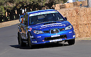 Dean HERRIDGE & Glen WESTON .Subaru  Impreza WRX Sti.Motorsport-Rally/2009 Forest Rally .Shakedown .3rd of April 2009.Busselton Foreshore, Busselton, Western Australia.(C) Joel Strickland Photographics