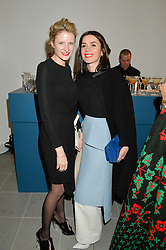Left to right, FIONA SCARRY and LARA BOHINC at the Future Contemporaries Party in association with Coach at The Serpentine Sackler Gallery, West Carriage Drive, Kensington Gardens, London on 21st February 2015.