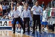 men european championships 2005<br /> germany-italy<br /> player: recalcati, frates, meneghin<br /> photo elio castoria
