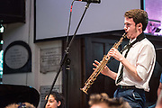 Big Band in a Day<br /> Students from Chatham House and Clarendon Grammar Schools open the evening of music by Ronnie Scott&rsquo;s Big Band, playing jazz learned in a workshop for the day. Directed by Ronnie Scott's Band Musical Director Pete Long. St George&rsquo;s Church, Deal. &copy; Tony Nandi