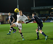 Dundee&rsquo;s Mark O&rsquo;Hara and Ross County's Craig Curran - Ross County v Dundee in the Ladbrokes Scottish Premiership at The Global Energy Stadium, Dingwall, Photo: David Young<br /> <br />  - &copy; David Young - www.davidyoungphoto.co.uk - email: davidyoungphoto@gmail.com