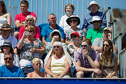 LIVERPOOL, ENGLAND - Sunday, June 22, 2014: Spectators during Day Four of the Liverpool Hope University International Tennis Tournament at Liverpool Cricket Club. (Pic by David Rawcliffe/Propaganda)