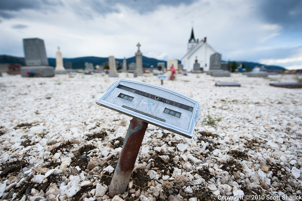 A small cemetery in rural Montana is home to an unkown person buried in a plot behind the church. Missoula Photographer, Missoula Photographers, Montana Pictures, Montana Photos, Photos of Montana