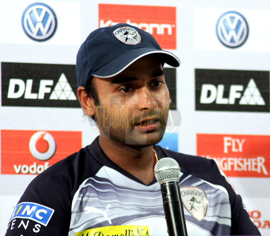 Deccan Chargers player Amit Mishra during the press confrence of the match 59 of the the Indian Premier League ( IPL ) Season 4 between the Mumbai Indians and the Deccan Chargers held at the Wankhede Stadium, Mumbai, India on the 14th May 2011..Photo by Sandeep Shetty/BCCI/SPORTZPICS.