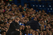 Chelsea's manager José Mourinho reacts during their UEFA Champions League group match against Basel at Stamford Bridge in London, 27 August 2013.  BOGDAN MARAN / BPA