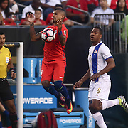 Chile Midfielder ARTURO VIDAL (8) passes the ball in the first half of a Copa America Centenario Group D match between the Chile and Panama Tuesday, June. 14, 2016 at Lincoln Financial Field in Philadelphia, PA.
