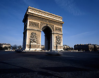 AA00385-01...FRANCE - The Arch de Triomphe in Paris.