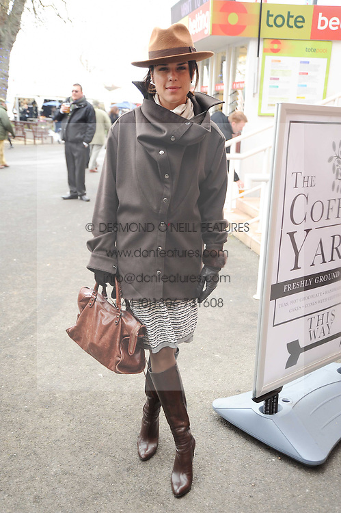 NEVE CAMPBELL at the Hennessy Gold Cup 2010 at Newbury Racecourse, Berkshire on 27th November 2010.