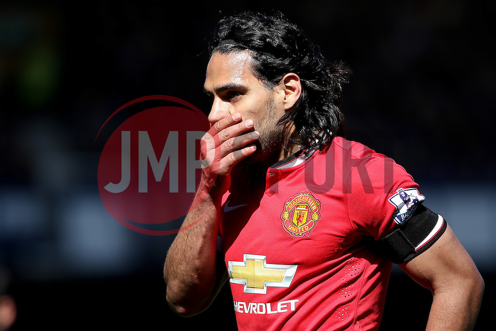 Radamel Falcao of Manchester United looks dejected  - Photo mandatory by-line: Matt McNulty/JMP - Mobile: 07966 386802 - 26/04/2015 - SPORT - Football - Liverpool - Goodison Park - Everton v Manchester United - Barclays Premier League