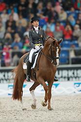 Ferrer-Salat Beatriz, (ESP), Delgado<br /> Grand Prix Kur<br /> European Championships - Aachen 2015<br /> © Hippo Foto - Dirk Caremans<br /> 16/08/15