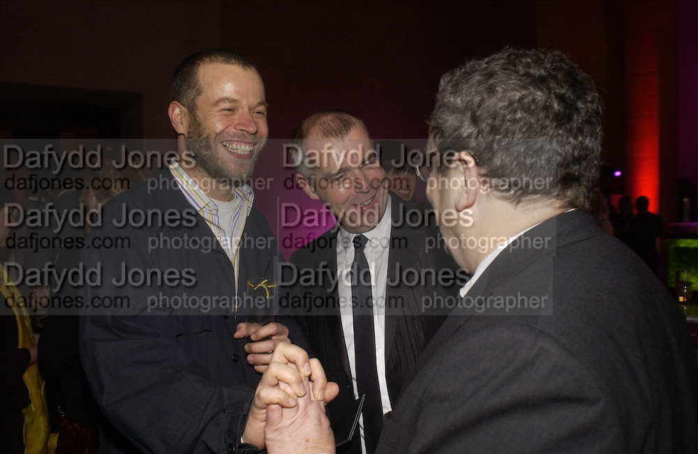 Wolfgang Tillmans, Neil Tennant and Norman Rosenthall, Turner Prize 2005. Tate Britain.   5 December  2005. ONE TIME USE ONLY - DO NOT ARCHIVE  © Copyright Photograph by Dafydd Jones 66 Stockwell Park Rd. London SW9 0DA Tel 020 7733 0108 www.dafjones.com