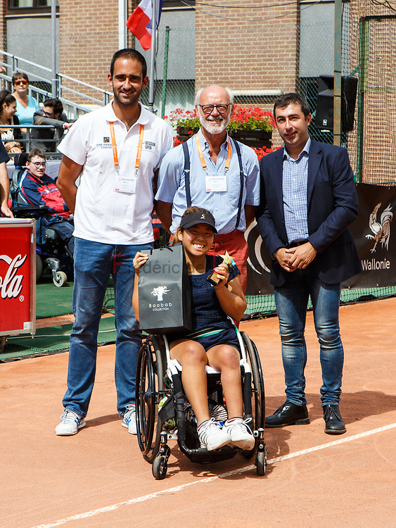 20170730 - Namur, Belgium :  Yui Kamiji (JPN) wins the women single during the 30th Belgian Open Wheelchair tennis tournament on 30/07/2017 in Namur (TC Géronsart). © Frédéric de Laminne
