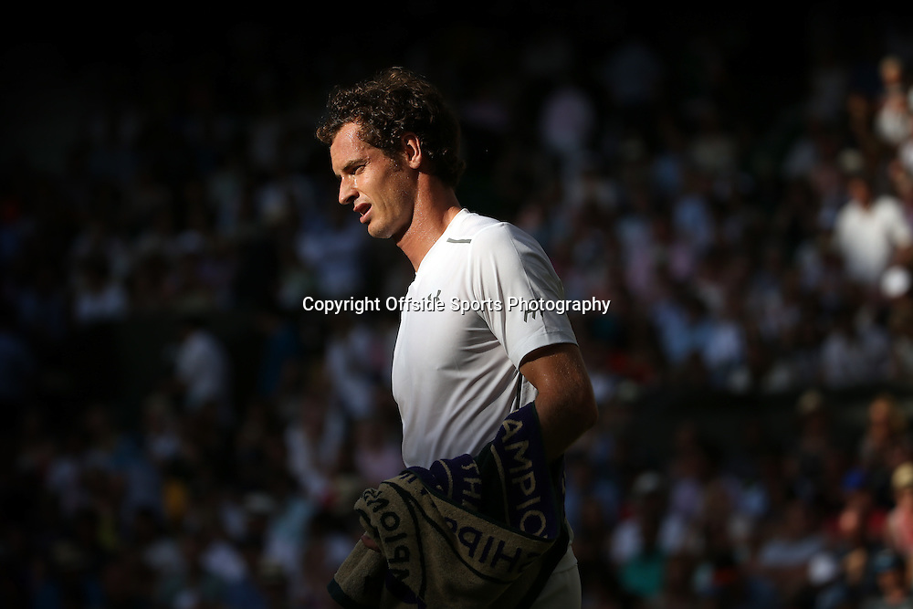 4 July 2015 - Wimbledon Tennis (Day 6) - Andy Murray in action during his third round win over Andreas Seppi - Photo: Marc Atkins / Offside.