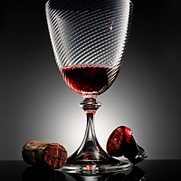 Hero shot of a glass of wine shot in studio by Timothy Hogan Photography right here in Los Angeles California