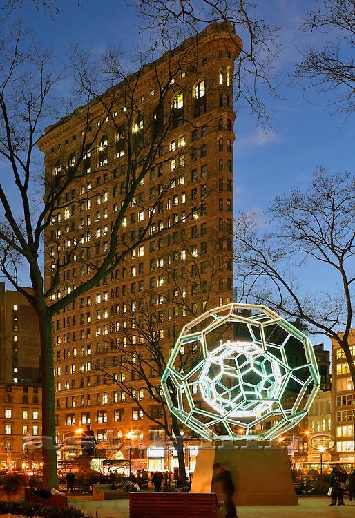 Villareal's BUCKYBALL on Flatiron District. Manhattan New York City.