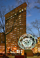 Villareal's BUCKYBALL on Flatiron District. Manhattan New York City.