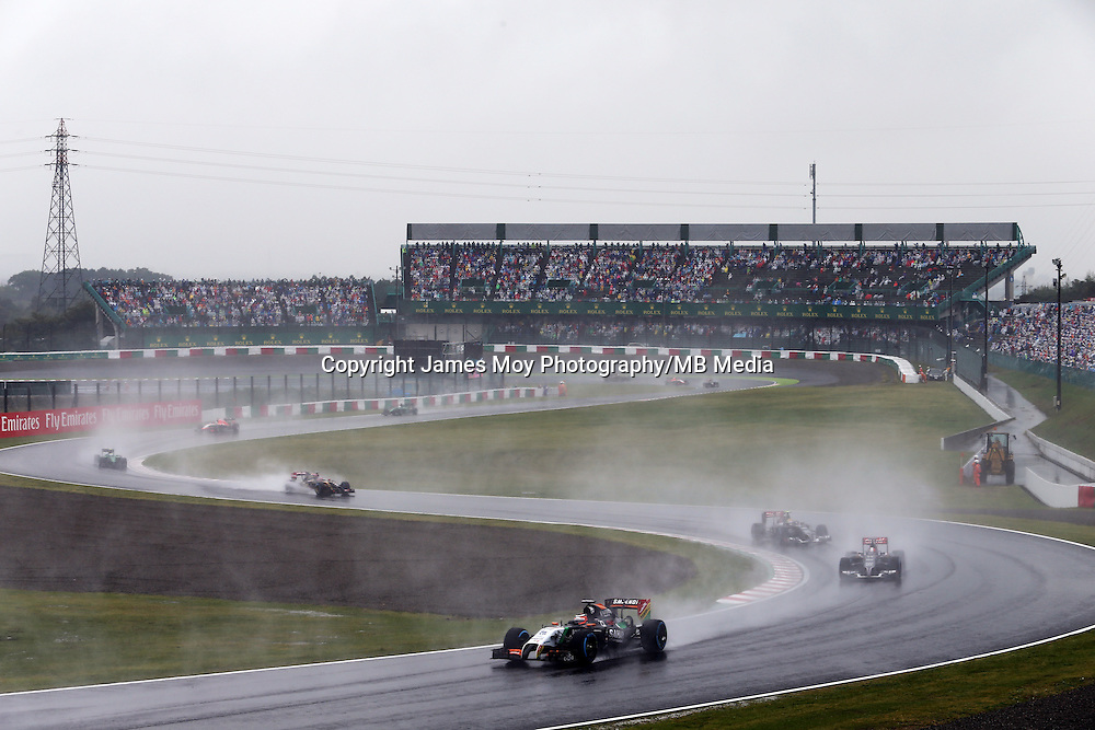 Nico Hulkenberg (GER) Sahara Force India F1 VJM07.<br /> Japanese Grand Prix, Sunday 5th October 2014. Suzuka, Japan.