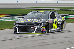 April 6, 2018 - Fort Worth, TX, U.S. - FORT WORTH, TX - APRIL 06: Monster Energy NASCAR Cup Series driver Jimmie Johnson (48) drives down pit road during practice for the O'Reilly Auto Parts 500 on April 6, 2018 at Texas Motor Speedway in Fort Worth, Texas.  (Photo by George Walker/Icon Sportswire) (Credit Image: © George Walker/Icon SMI via ZUMA Press)