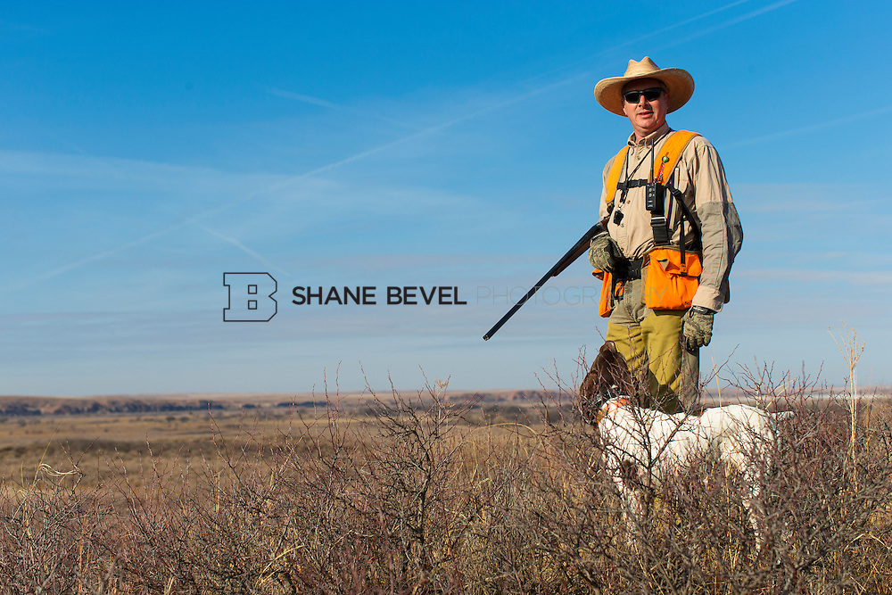 12/8/12 11:30:28 AM -- Quail hunting on the Cimarron Hills WMA in western Oklahoma. <br /> <br /> Photo by Shane Bevel