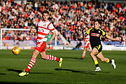Doncaster Rovers midfielder Jordan Houghton (16), on loan from Chelsea, in action  during the EFL Sky Bet League 1 match between Doncaster Rovers and Rotherham United at the Keepmoat Stadium, Doncaster, England on 11 November 2017. Photo by Simon Davies.