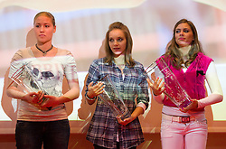 Katja Zof, Anja Benko and  Manca Sepetavc during the Slovenia's Athlete of the year award ceremony by Slovenian Athletics Federation AZS, on November 12, 2008 in Hotel Mons, Ljubljana, Slovenia.(Photo By Vid Ponikvar / Sportida.com) , on November 12, 2010.