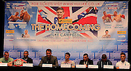 Picture by Richard Gould/Focus Images Ltd +44 7855 403186<br /> 22/06/2013<br /> All the fighters pictured during a press conference at Hull City Hall.