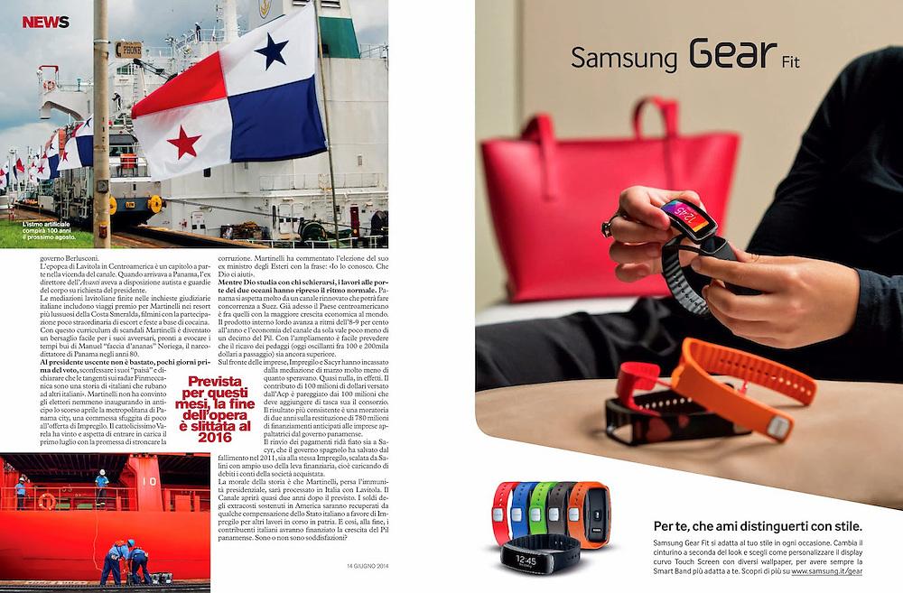 The Canal pf Panama<br /> D La Repubblica Magazine <br /> Italy 2014