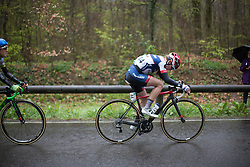 Clara Koppenburg (GER) of Cervélo-Bigla Cycling Team digs deep in the last lap of the first, 106.9km road race stage of Elsy Jacobs - a stage race in Luxembourg, in Steinfort on April 30, 2016