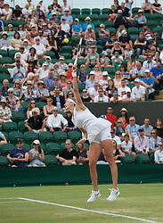 LONDON, ENGLAND - Saturday, July 6, 2019: Petra Kvitova (CZE) during the Ladies' Singles third round match on Day Six of The Championships Wimbledon 2019 at the All England Lawn Tennis and Croquet Club. Kvitova won 6-3, 6-2. (Pic by Kirsten Holst/Propaganda)
