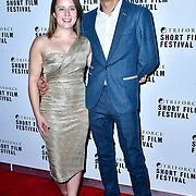 Minnie Ayers and Fraser Ayres attend TriForce Short Festival, on 30 November 2019, at BFI Southbank, London, UK.