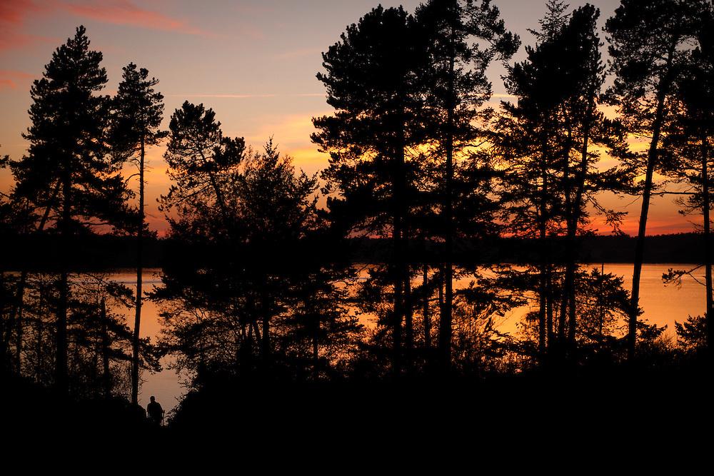 Sunset over the sound, Lopez Island, Washington