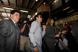 May 19, 2009; New York, NY, USA;  Juan Manuel Marquez arrives at the press conference announcing his upcoming fight against Floyd Mayweather Jr.  The two will meet on July 18, 2009 at the MGM Grand Garden Arena in Las Vegas, NV.