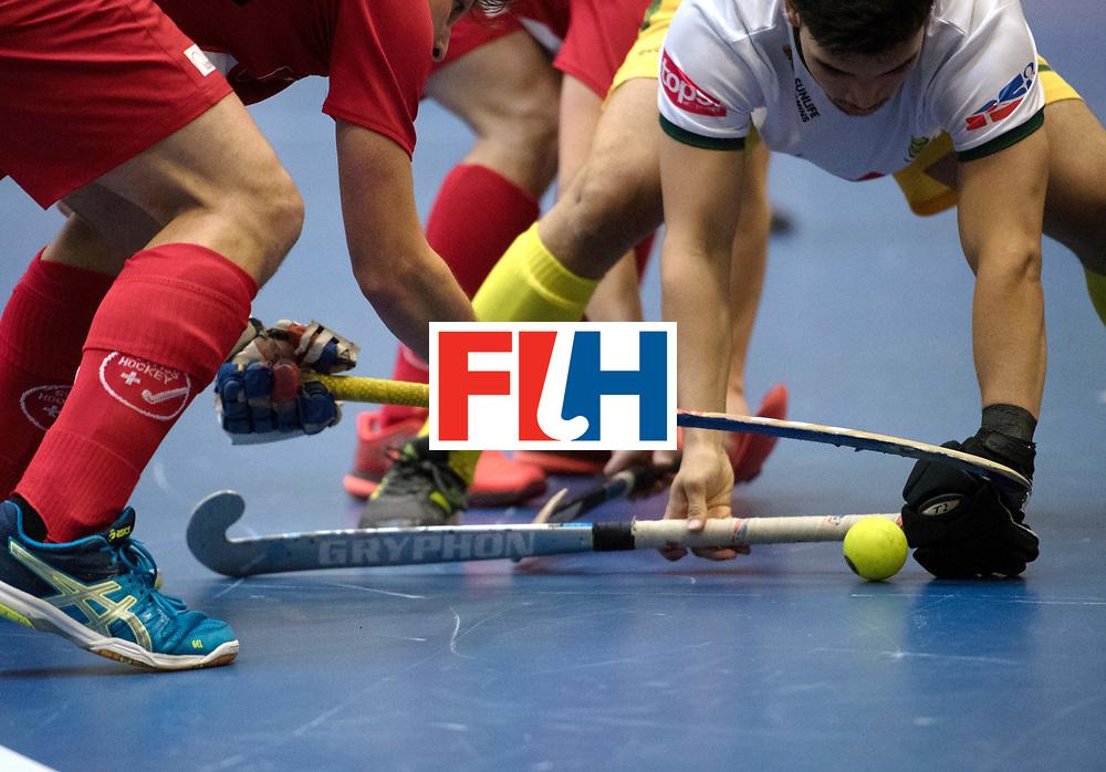 BERLIN - Indoor Hockey World Cup<br /> Switzerland - South Africa<br /> foto: <br /> WORLDSPORTPICS COPYRIGHT FRANK UIJLENBROEK