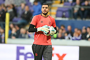 Sergio Romero Goalkeeper of Manchester United in warm up during the UEFA Europa League Quarter-final, Game 1 match between Anderlecht and Manchester United at Constant Vanden Stock Stadium, Anderlecht, Belgium on 13 April 2017. Photo by Phil Duncan.