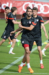 11.05.2015, Trainingsgel&auml;nde an der Sebener Strasse, Muenchen, GER, UEFA CL, FC Bayern Muenchen vs FC Barcelona, Halbfinale, R&uuml;ckspiel, Training FC Bayern Muenchen, im Bild vl. Medhi Benatia ( FC Bayern Muenchen ) // during a training session of FC Bayern Munich for the UEFA Champions League semi finals 2nd Leg match between FC Bayern Munich and FC Barcelona at the training Ground an der Sebener Strasse in Muenchen, Germany on 2015/05/11. EXPA Pictures &copy; 2015, PhotoCredit: EXPA/ Eibner-Pressefoto/ Vallejos<br /> <br /> *****ATTENTION - OUT of GER*****