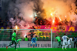 Viole, supporters of Maribor during football match between NK Olimpija and NK Maribor in Round #31 of Prva liga Telekom Slovenije 2016/17, on April 29, 2017 in SRC Stozice, Ljubljana, Slovenia. Photo by Vid Ponikvar / Sportida